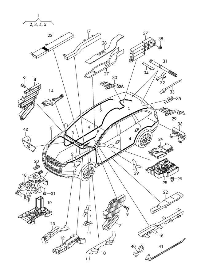 2008 Audi Q7 Relay Plate