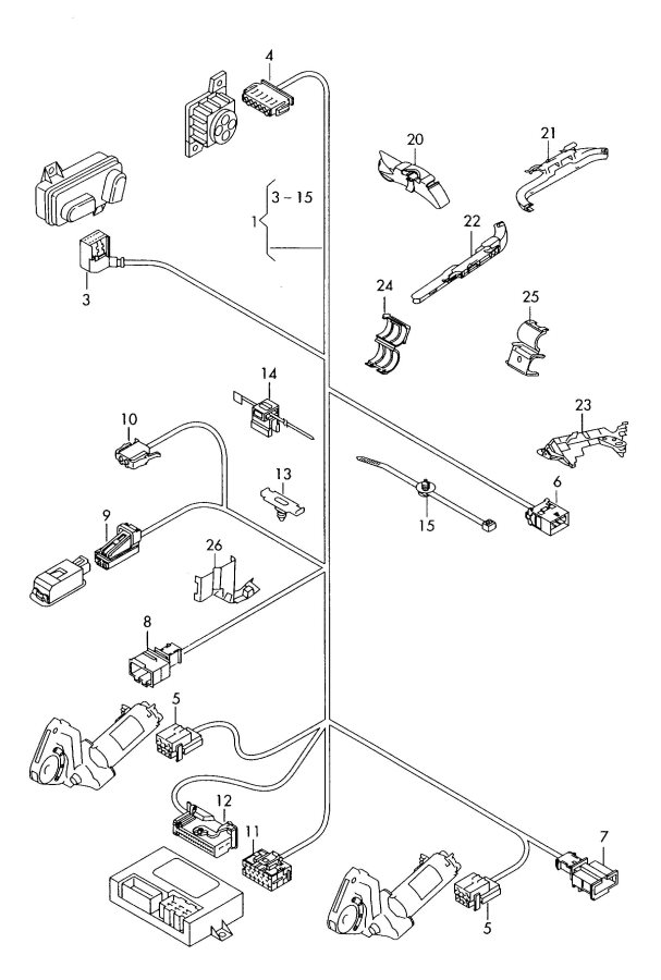 audi fasteners seat frame wiring harness single parts for vehicles
