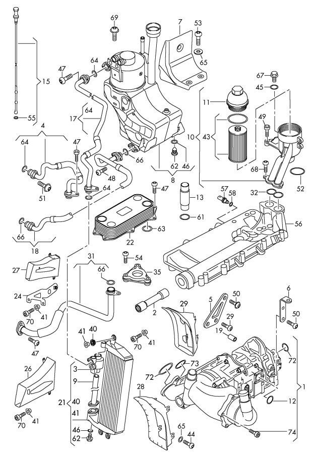 2012 Audi R8 Oil Pump Oil Filter Oil Filter Adapter Oil Dipstick Oil Cooler 5 2ltr
