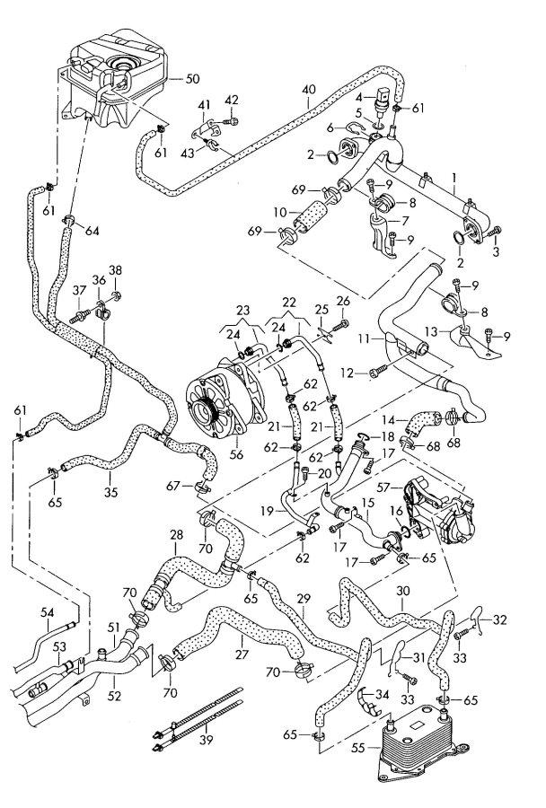 Water cooling rear 4.2ltr. Audi R8 (R8): BYH PR 8Z4 ; 8Z5 8Z6; 8  #3B3B3B