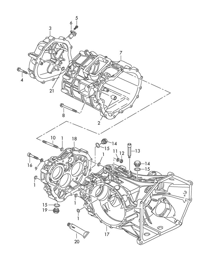 Audi R8 Transmission Case Semi