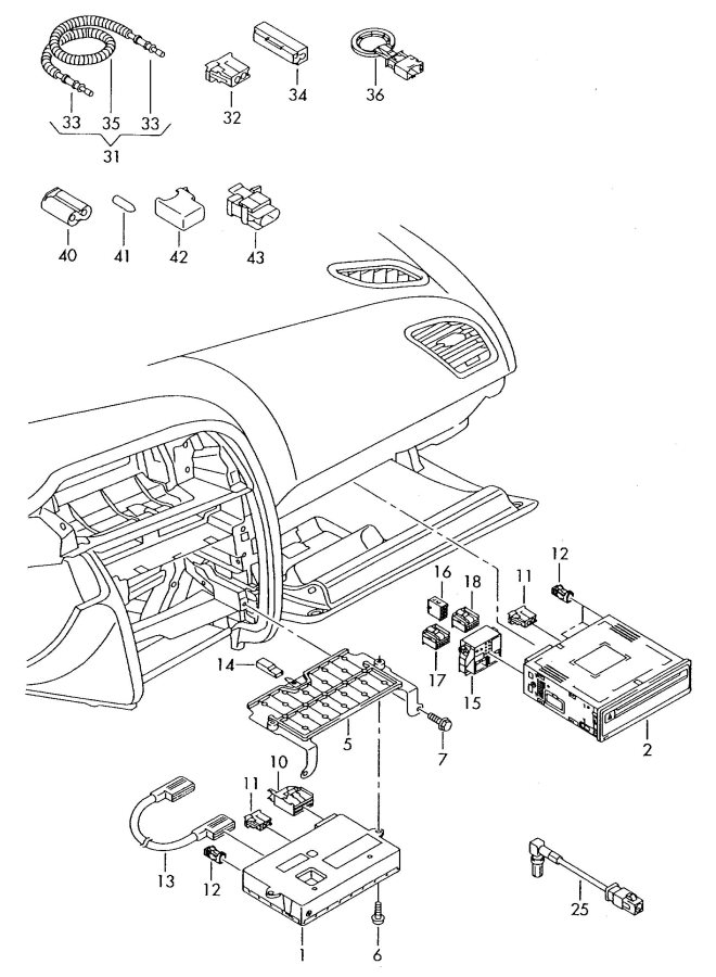 2009 Audi S5 Sportback Display Unit Adapter Wiring Harness