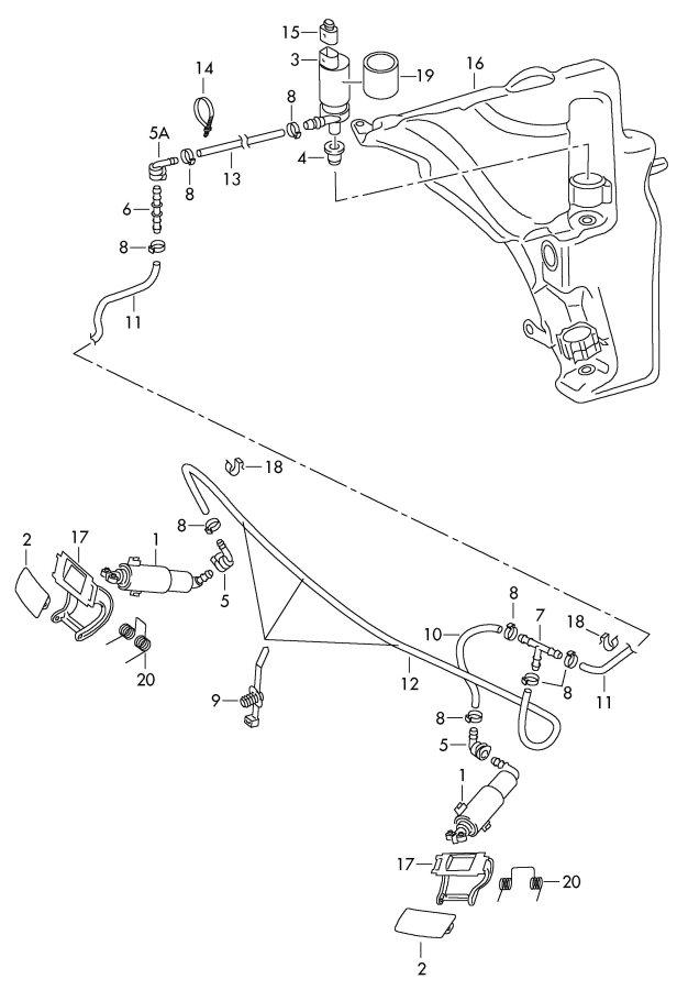 Audi       A5       Sportback    Pressure cylinder for headlight washer system  8T0955102B   Jim Ellis    Audi
