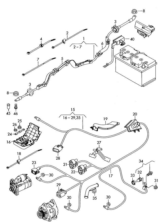 audi battery harness