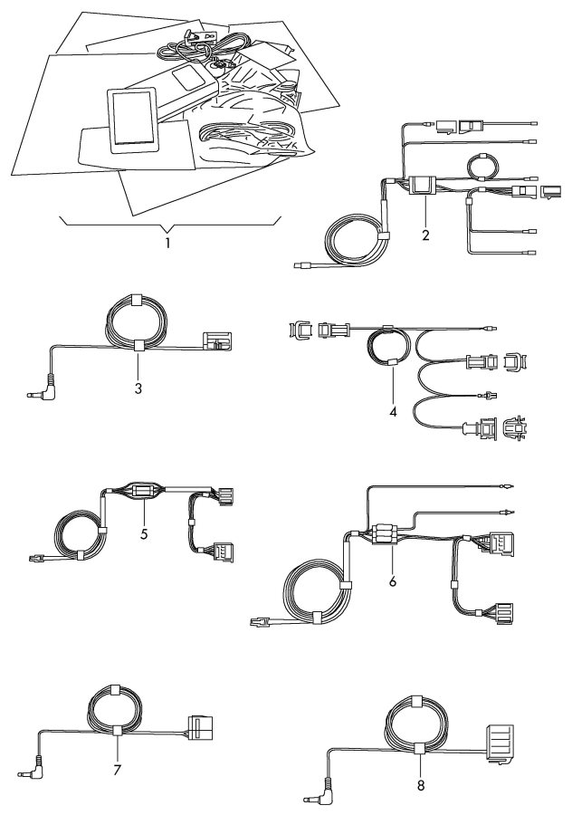 Diagram Original accessories hands-free device single parts       not for: for your Audi S5 Cabriolet