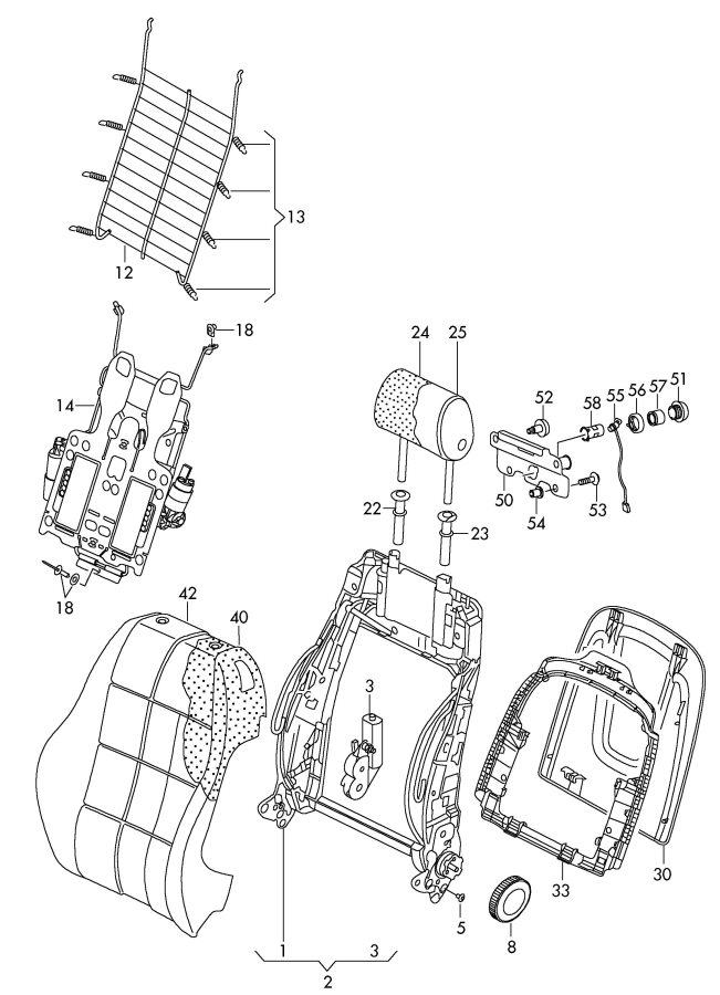 Audi A4 Guide With Push Button For Head Restraint