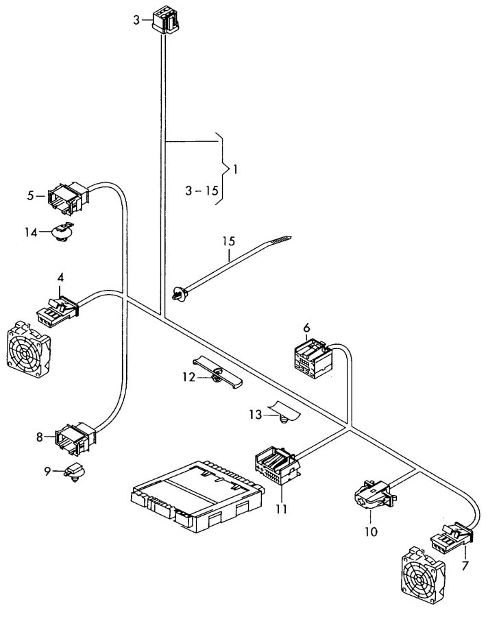 2010 Audi Q5 Wiring Set For Seat Ventilation  Cable Set