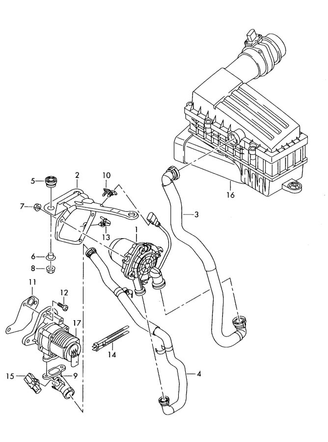 2008 Audi A3 Connector  Air  Pump  2017-20  4 2 Liter  Gas Engine W  1 4 Liter