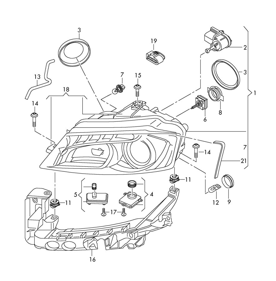 2009 Audi A3 Power Module For Cornering Light  Led