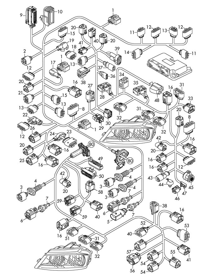 2011 Audi A3 Steering Gear Oxygen Sensor Flat Contact