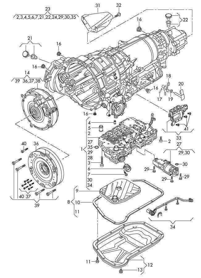 2009 Audi Q5 1 Set Oil Drain Plugs And Monitor Screws  1 Set Oil Drain Sc  Set Bolts