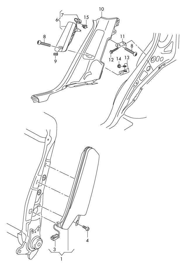 2009 Audi Q5 Flat Contact Housing Airbag Matching Contact Housing   Illustration Text