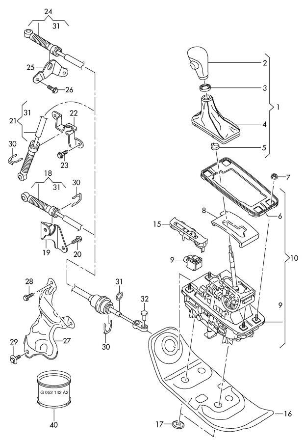 service manual  1996 audi cabriolet gear shift mechanism