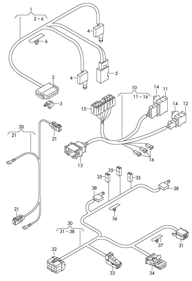 wiring harness for audi cabriolet antenna  audi  auto