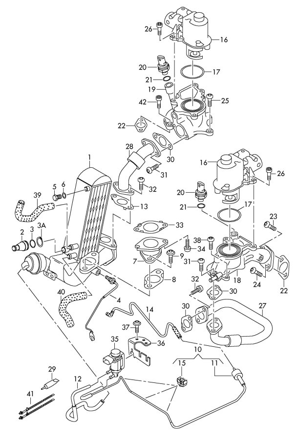 audi quattro engine bay check valve  egr