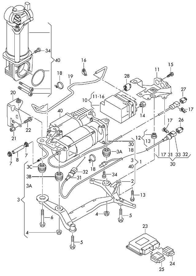 Audi Q7 Vacuum Hose  Vacum Hose