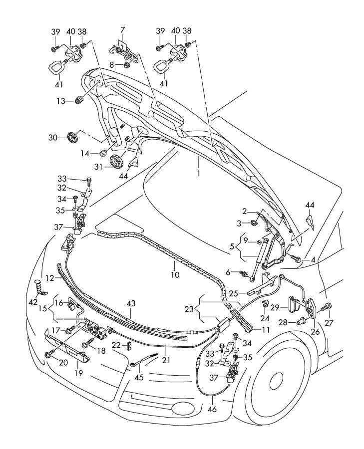 Audi A5 Cap Nut  Self-locking  Self Locking Cap Nut  Eightcylinder  Closed