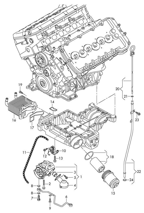 2010 Audi A8 Quattro Gasket  Litre