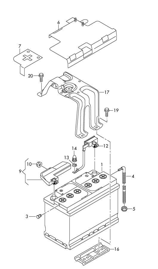 Jim Ellis Audi Atlanta >> 000915105DL - Audi Battery with charge state indicator ...