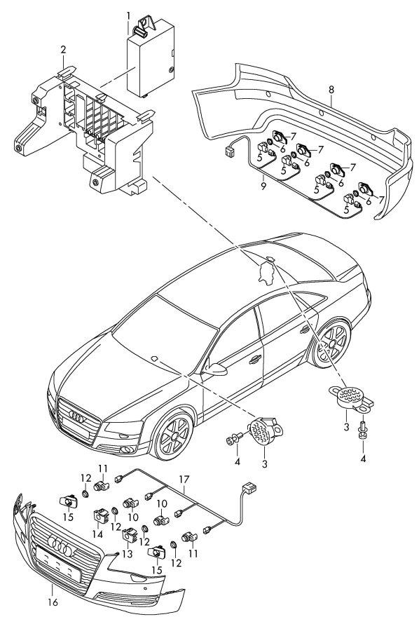 2012 audi a7 control unit for park assist parking assist
