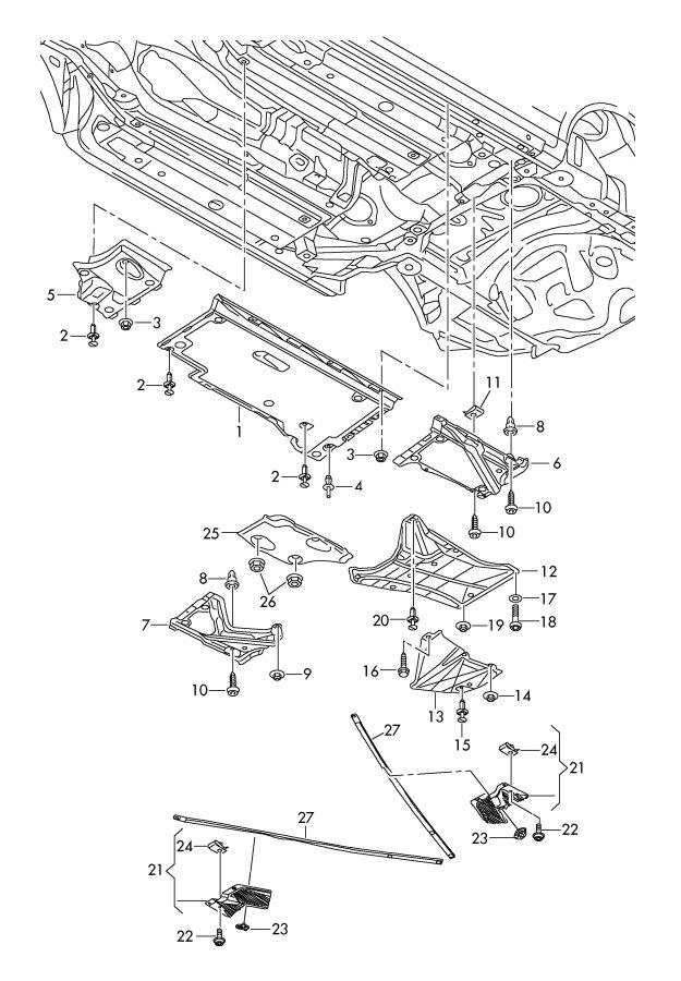Jim Ellis Audi Atlanta >> 4F0825429A - Audi T-bolt attachment element. Linerfastener ...