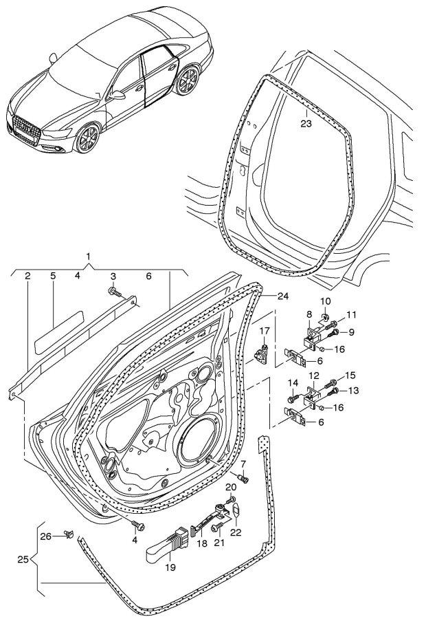 Audi Doors Door Hinge Door Seal Rear