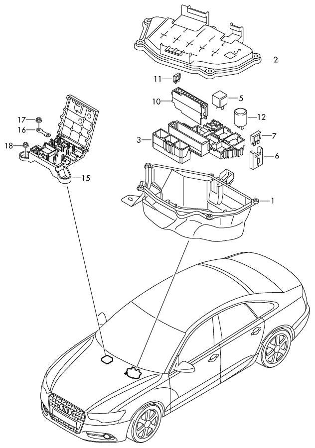 Audi Q7 Control Module For Glow Plug Relay Location  Code