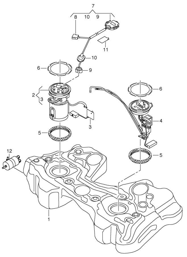2012 audi fuel gauge sender  cooled  fuelinjected  sys
