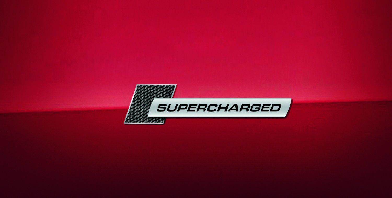 4f0853601 Audi Supercharged Badge Carbon Fiber