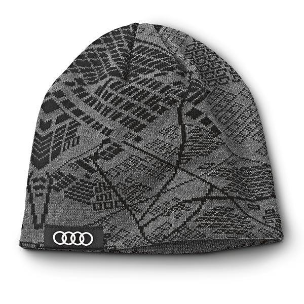 Awc102 Audi Ingolstadt Germany Design Map Knit Beanie