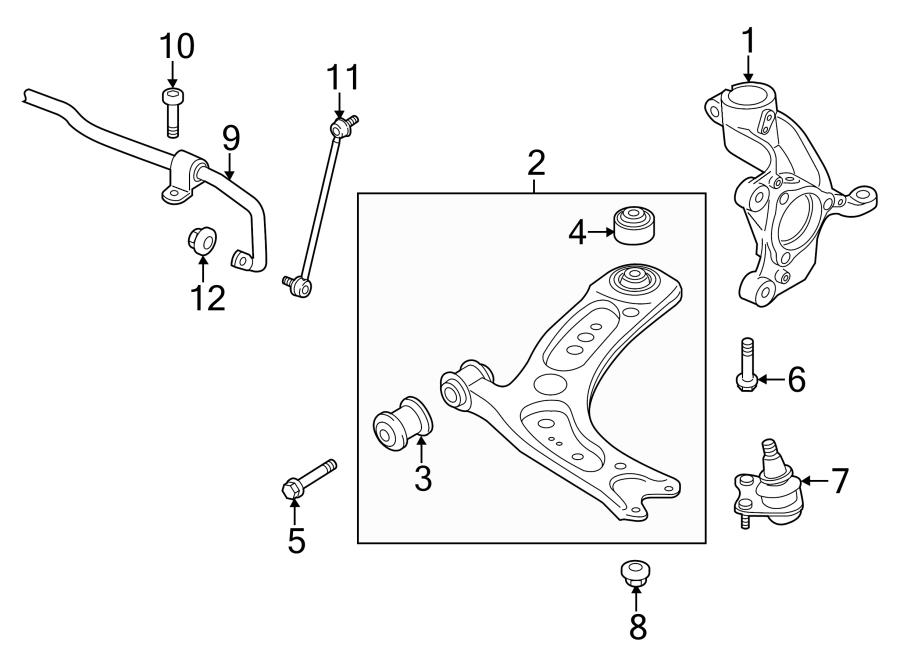 2016 Audi A3 Sportback E-tron Knuckle  Steering Knuckle  Suspension Knuckle