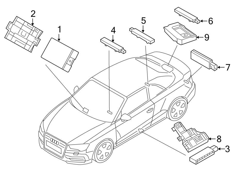 2016 Audi A3 Antenna  Keyless Entry Antenna  Pkgsensors