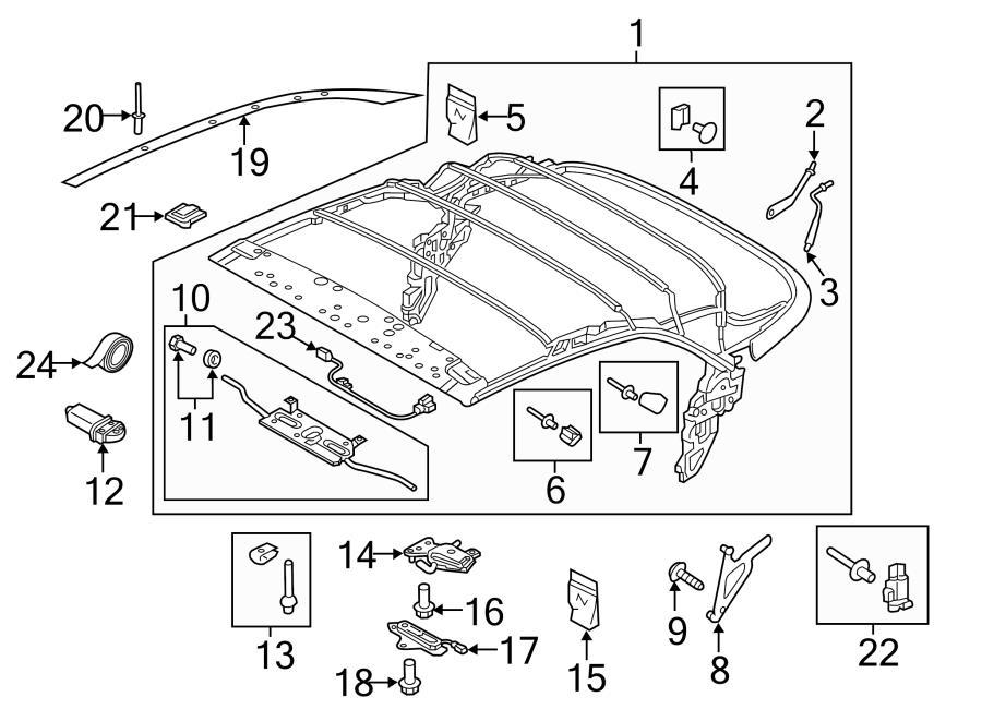 2017 Audi A3 Top Frame Adjuster