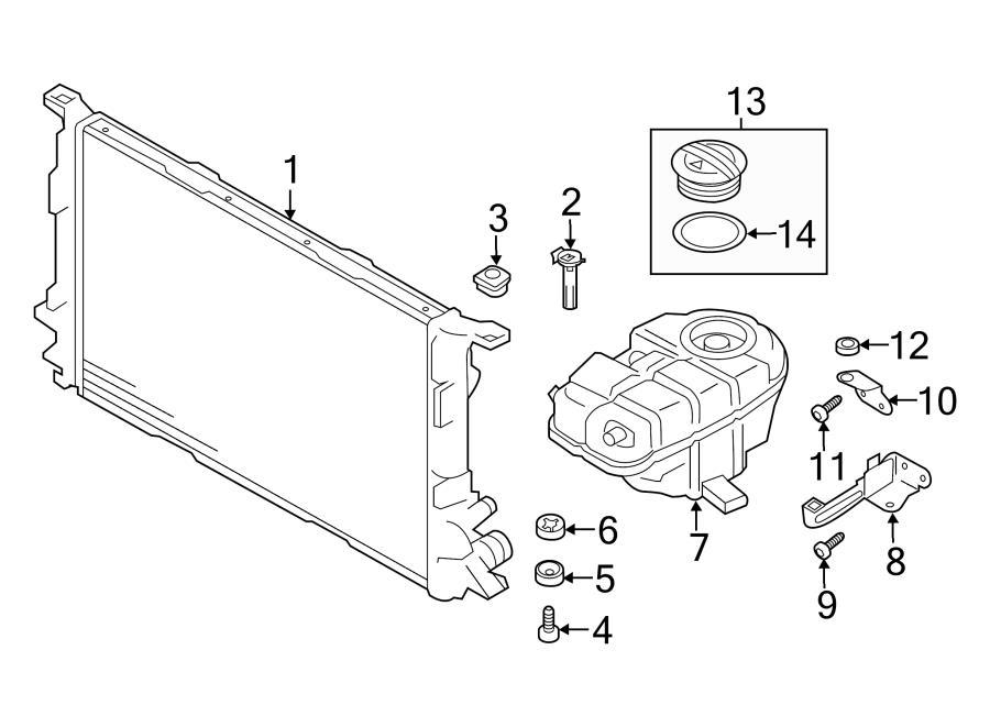 2013 Audi A7 Radiator Insulator  Upper  Lower