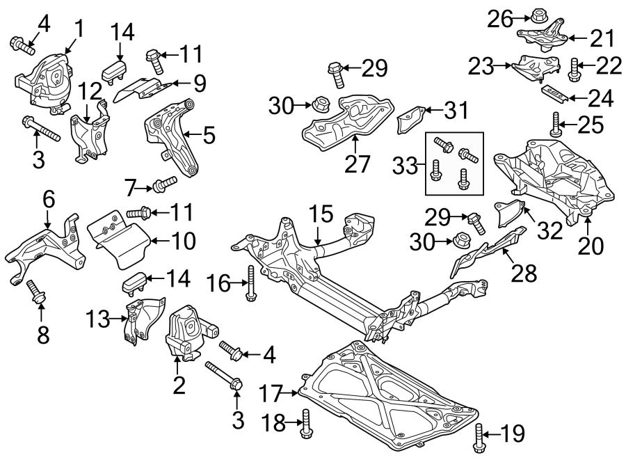 2013 Audi A7 Engine Mount Heat Shield  3 0 Liter Diesel  3