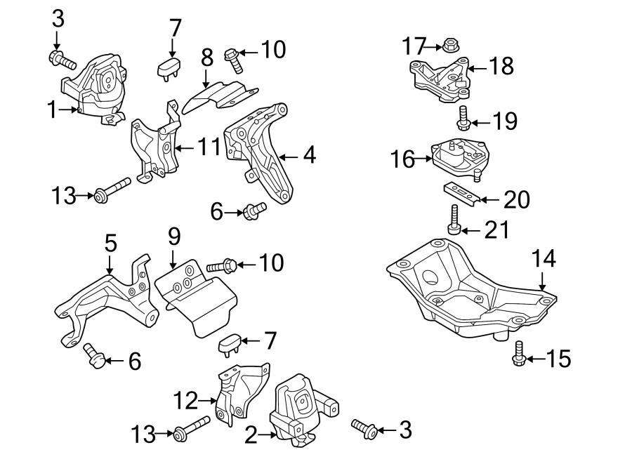 2013 Audi S5 Automatic Transmission Mount Bracket  Manual Transmission Mount Bracket