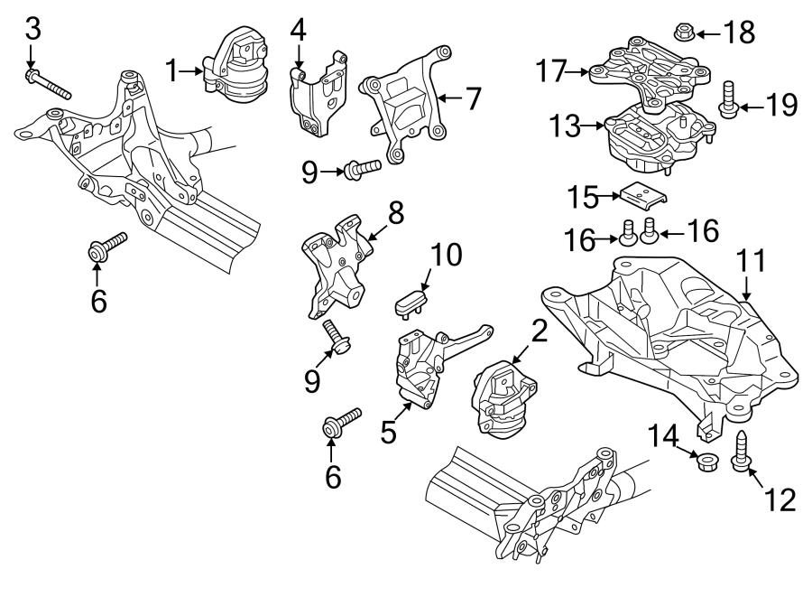 Audi S6 Engine Mount  Front Mount  Motor Mount