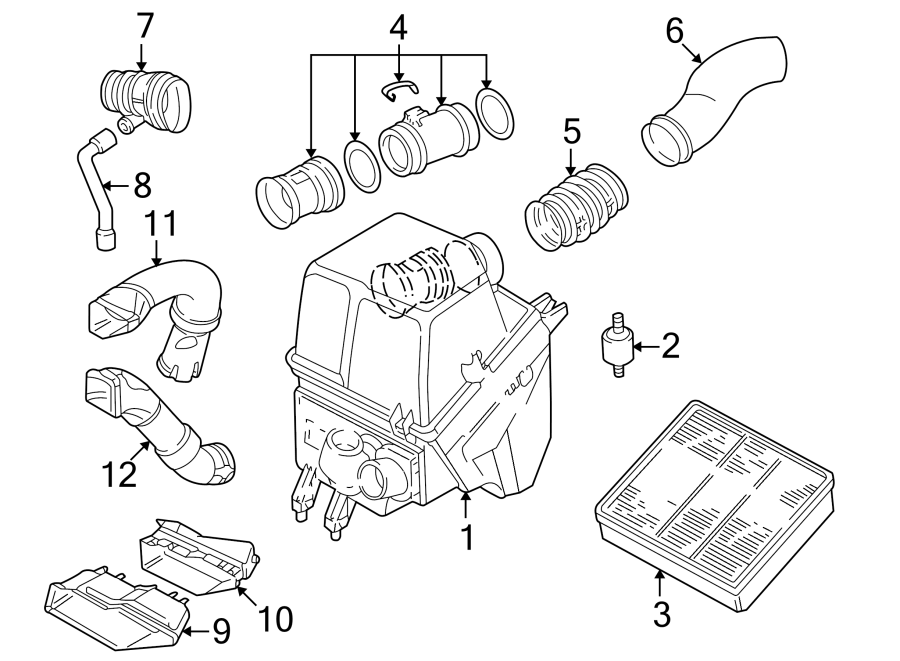 Audi A8 Quattro Engine Air Intake Hose  3 7 Liter