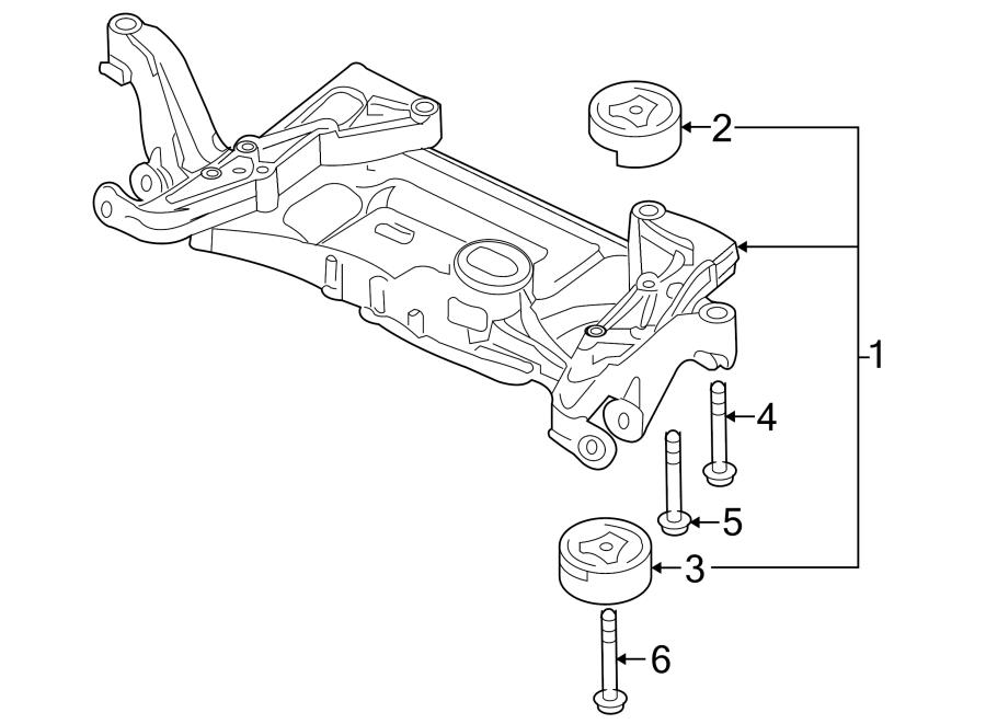 Audi Q3 Bonded Rubber Mounting  Crossmember