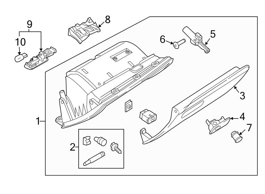 2015 Audi Q3 Glove Box Latch  Latch