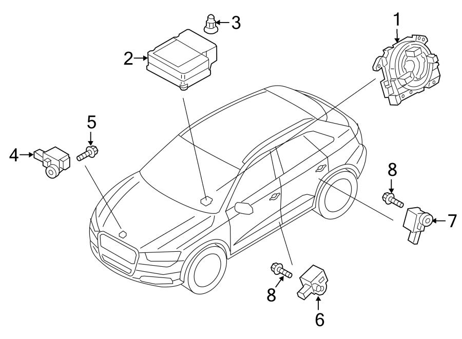 2015 Audi Q3 Sensor For Lateral Impact Acceleration