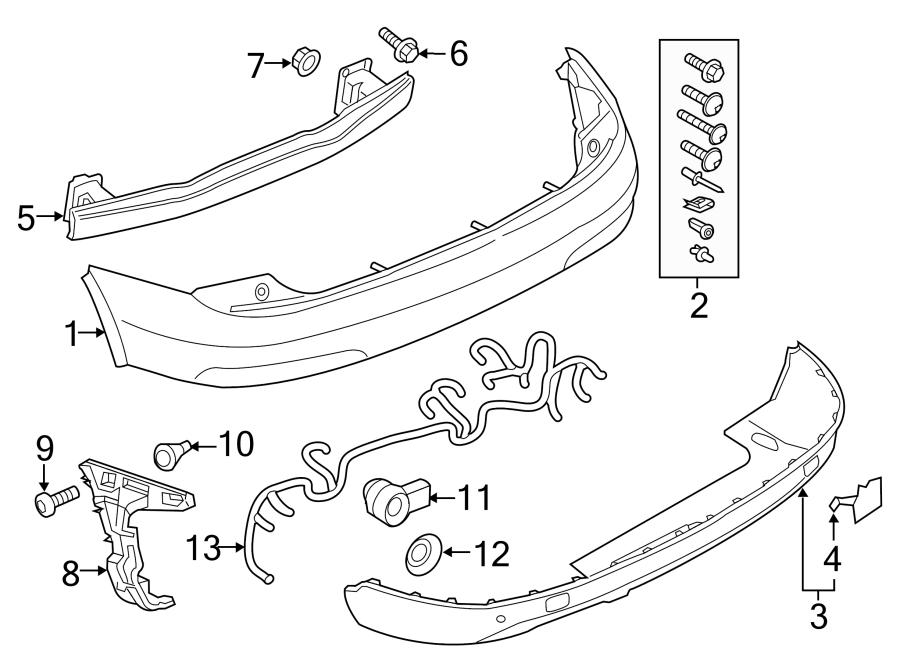 2015 Audi Q3 Tail Light Harness  Wire Harness  Wpark