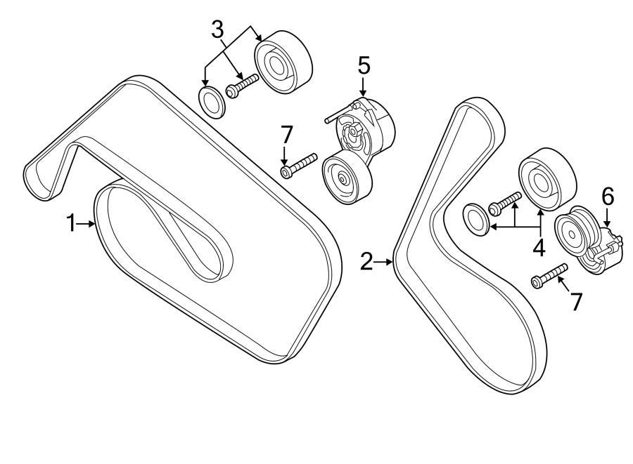 Audi Q7 Belt  V-ribbed  A  C   Refrigerant Compress  Ac Compressor  Vribbed Belt