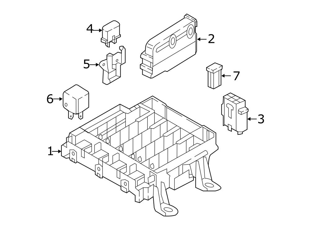 audi q7 fuse box  relay plate for vehicles with stationary
