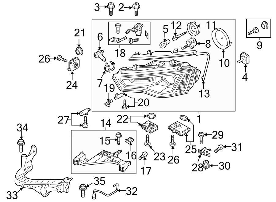 2013 Audi Allroad Headlight Socket  Headlight Wiring
