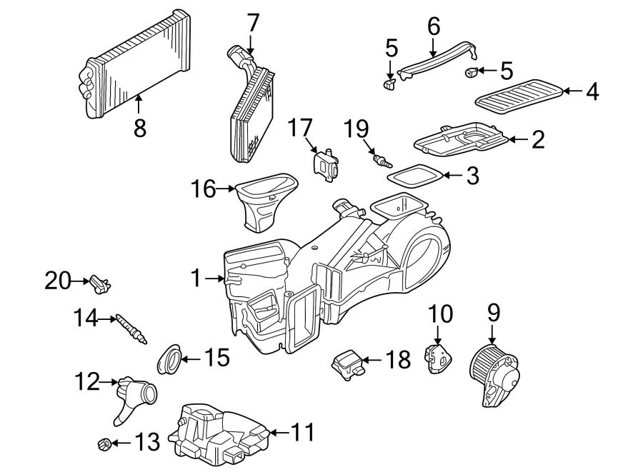 Audi A6 Temperature  Sensor  Evaporator  Air  Conditioning  A  C   Cabin  Hvac