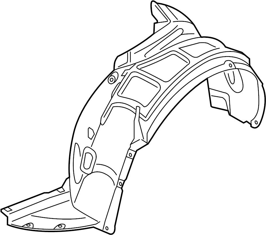 audi a3 fender liner  fender splash shield