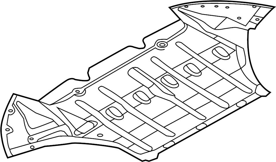 Audi RS5 Radiator Support Splash Shield. Under cover ...