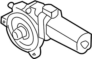 8j7959111 Audi Windscreen Electric Motor Blocker Body