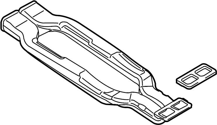 4l0857039 Audi Air Duct For Rear Footwell Heating Rear
